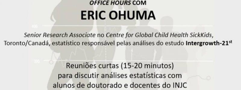 Discussão de análises estatísticas – Prof. Eric Ohuma